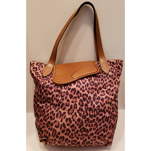 Ralph Lauren Handbags - Ralph Lauren animal print nylon & leather tote